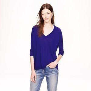 J Crew Merino Wool Side Panel Vneck Sweater Size S